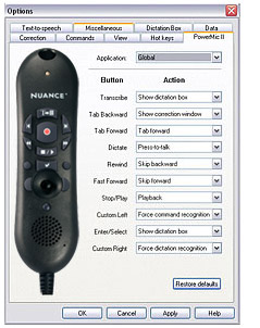 Configure PowerMic II Nuance with Dragon Medical Practice Edition.